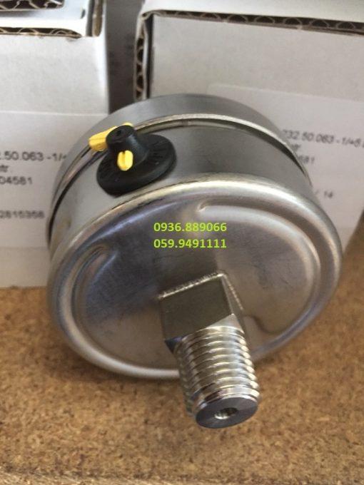 đồng hồ đo áp suất chân sau inox