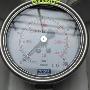 0-400 bar psi chân đứng Inox F63