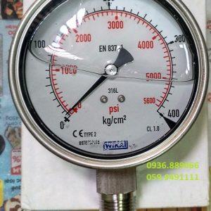 Wika Đức 0-400 kg psi chân đứng Inox