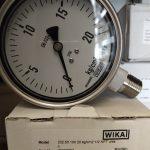 Đồng hồ áp suất Châu Âu mặt 100mm inox toàn bộ