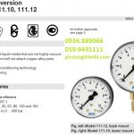 Tìm hiểu Đồng hồ đo áp suất WIKA Model 111.10 và Model 111.12