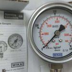 Đồng hồ đo áp suất mặt 63mm vỏ inox, chân inox